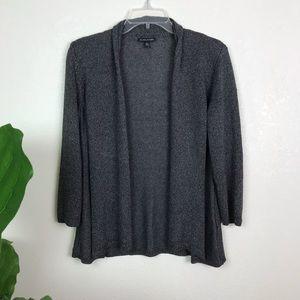 Eileen Fisher shimmery open knit cardigan